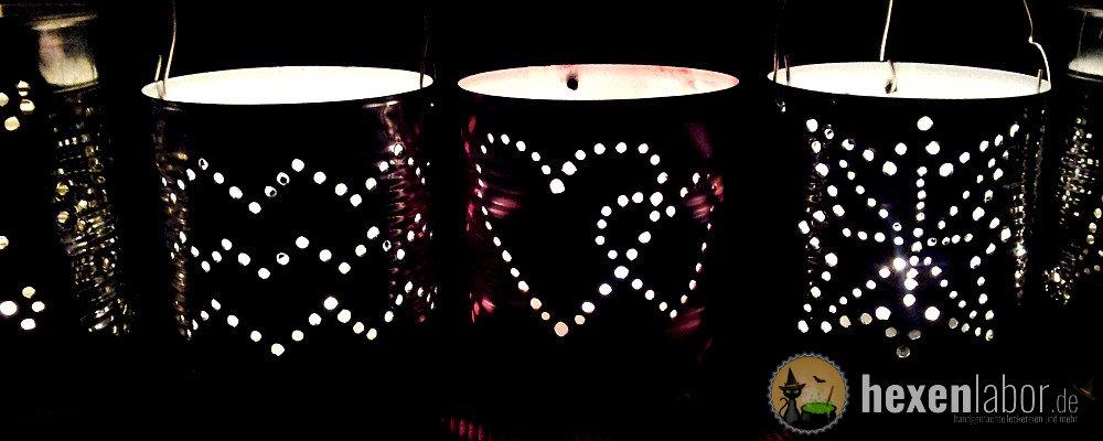 Romantische Blechdosen Laternen Hexenlabor