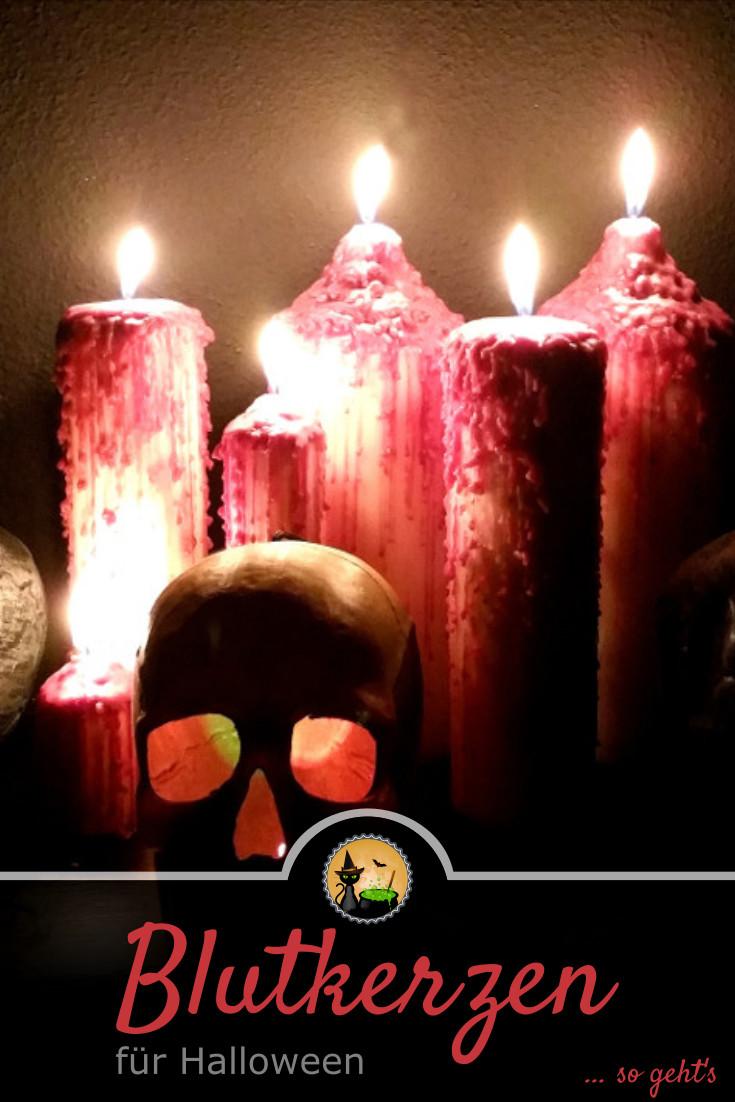 Blutkerzen für Halloween